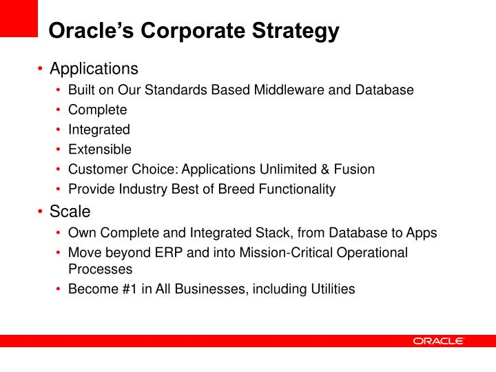 Oracle's Corporate Strategy
