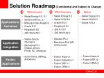 solution roadmap confidential and subject to change