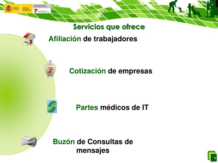 Servicios que ofrece