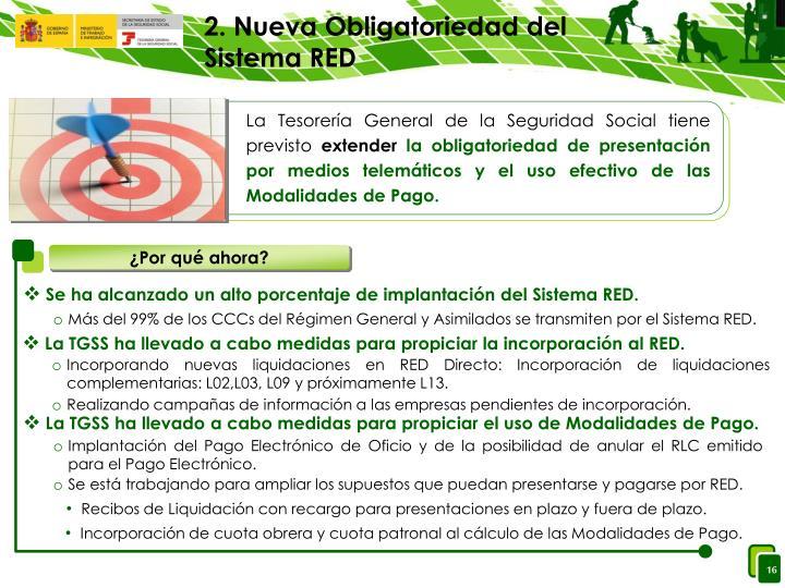 2. Nueva Obligatoriedad del Sistema RED