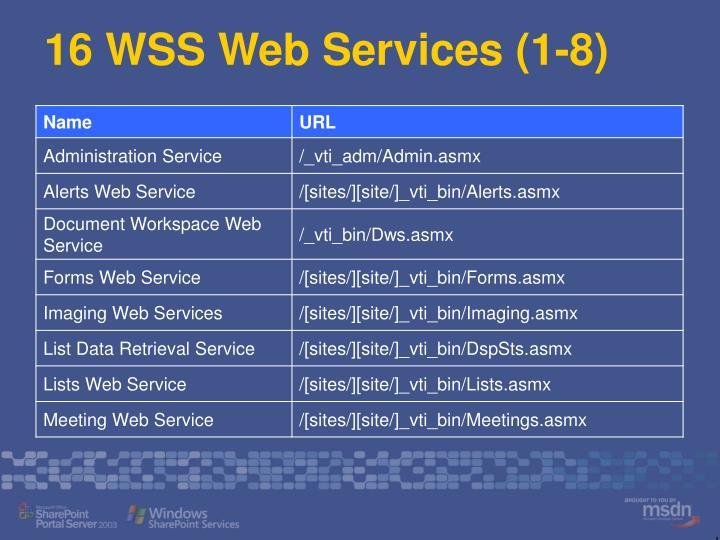16 WSS Web Services (1-8)