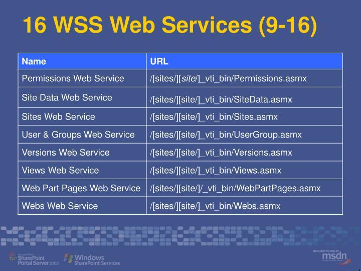 16 WSS Web Services (9-16)