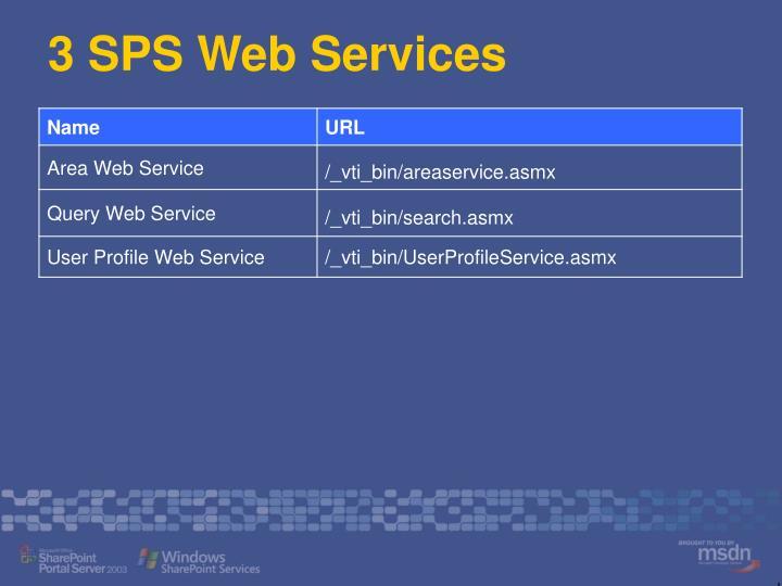 3 SPS Web Services