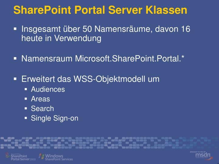 SharePoint Portal Server Klassen