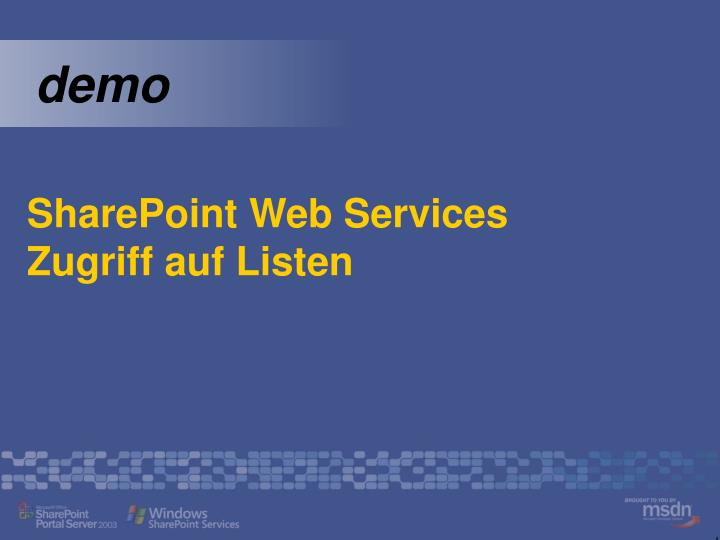 SharePoint Web Services