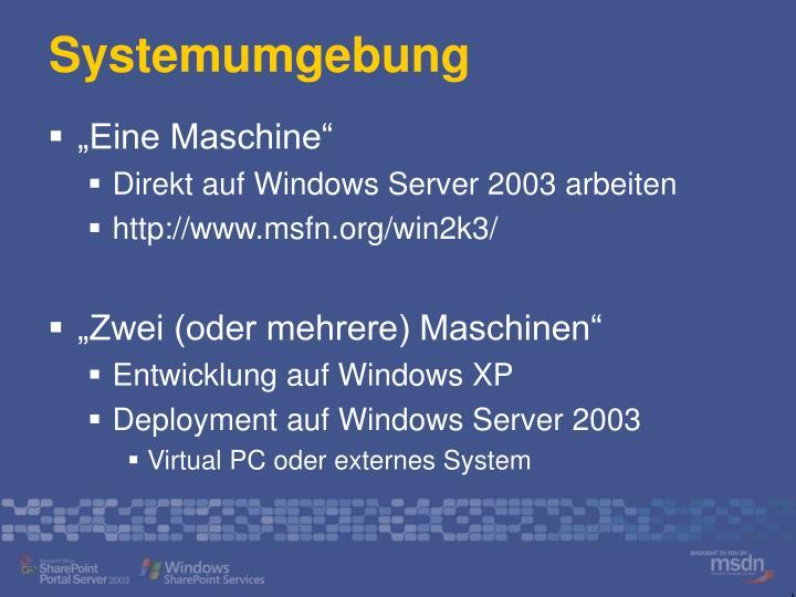 Systemumgebung