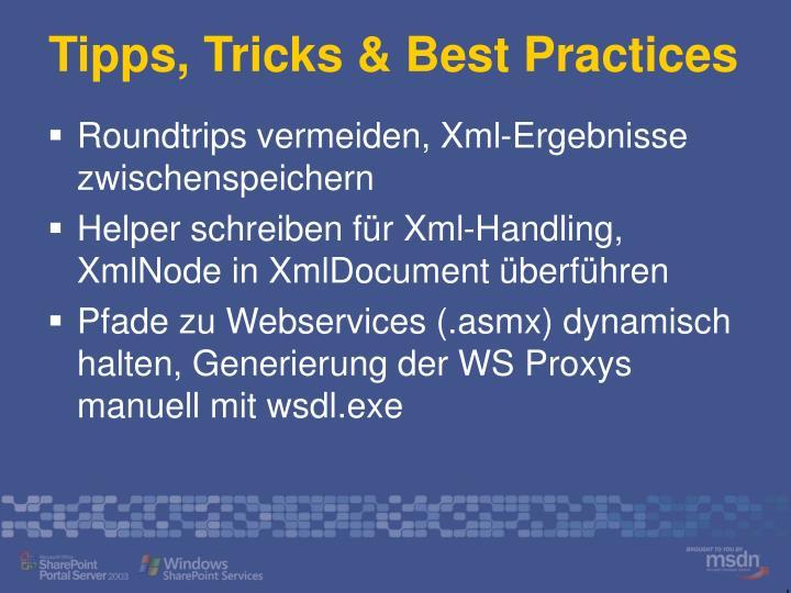 Tipps, Tricks & Best Practices