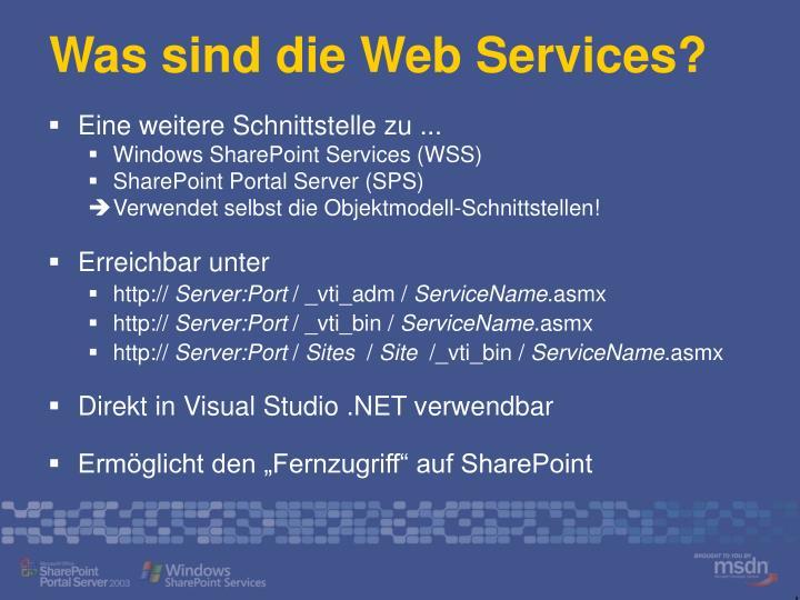 Was sind die Web Services?