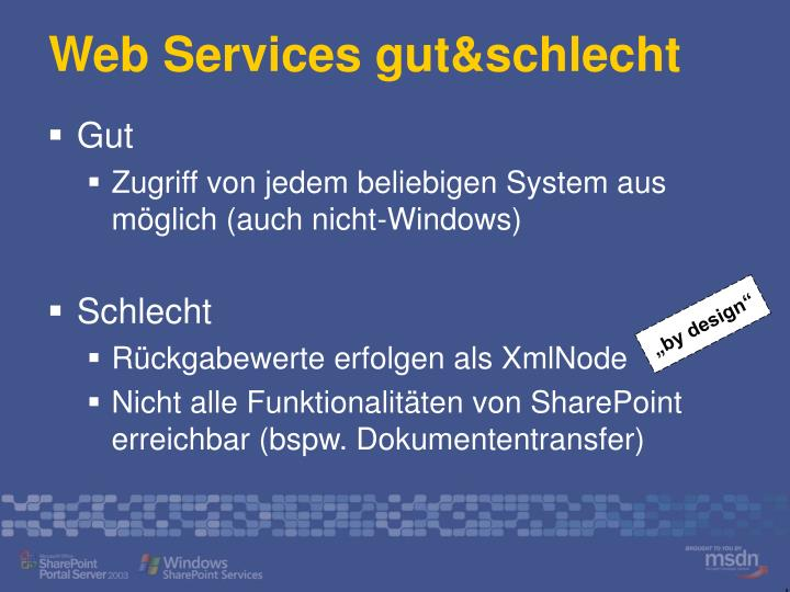 Web Services gut&schlecht