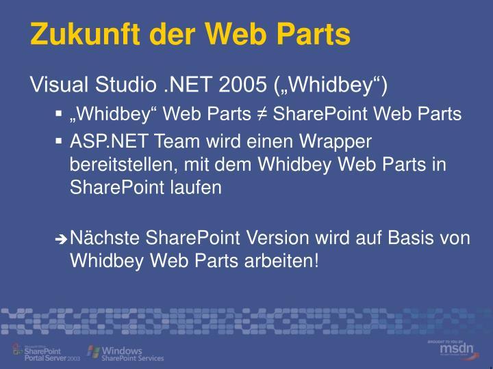 Zukunft der Web Parts