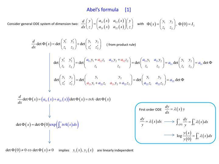 Abel's formula     [1]