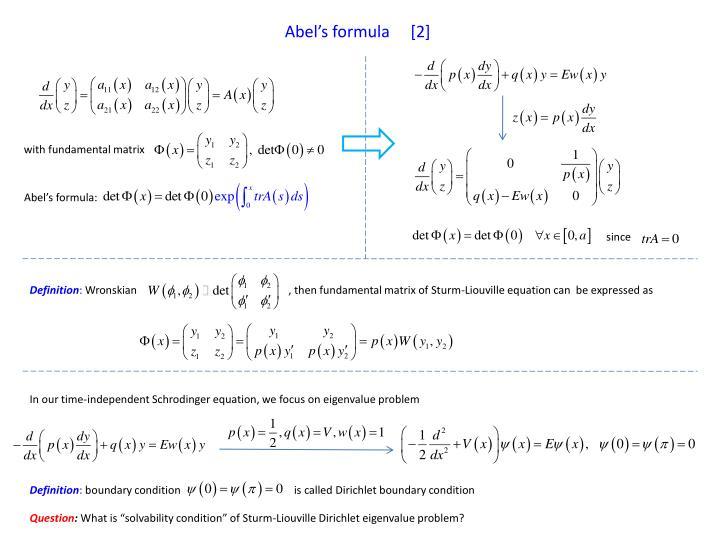 Abel's formula     [2]