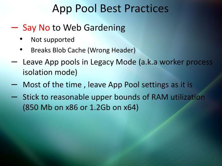 App Pool Best