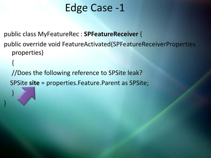 Edge Case -1