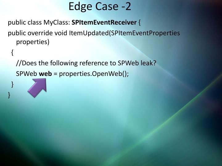 Edge Case -2
