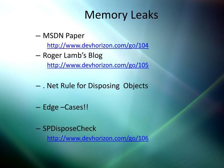 Memory Leaks