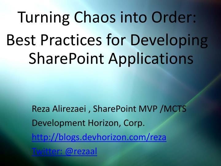 Reza Alirezaei , SharePoint MVP /MCTS