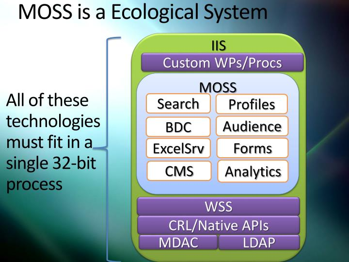 MOSS is a Ecological System