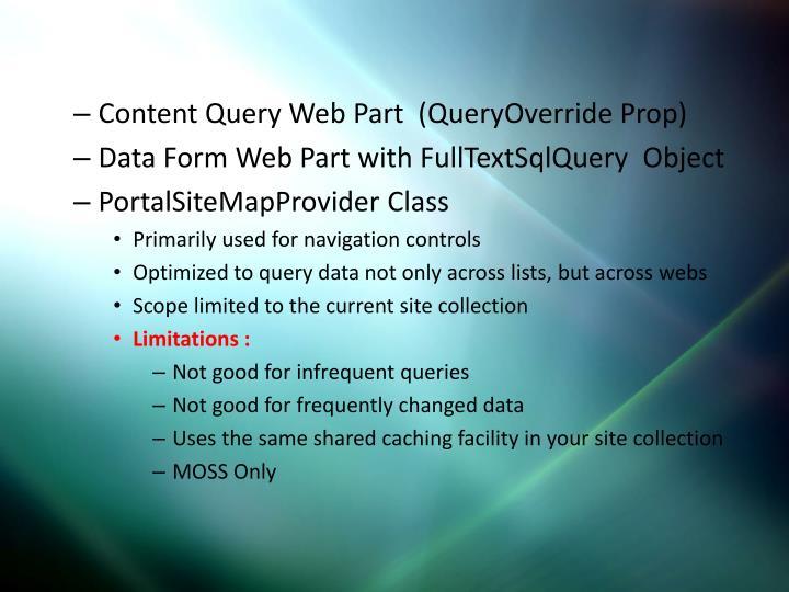 Content Query Web Part  (