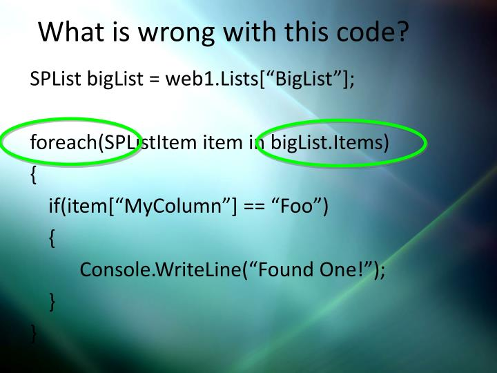 What is wrong with this code?