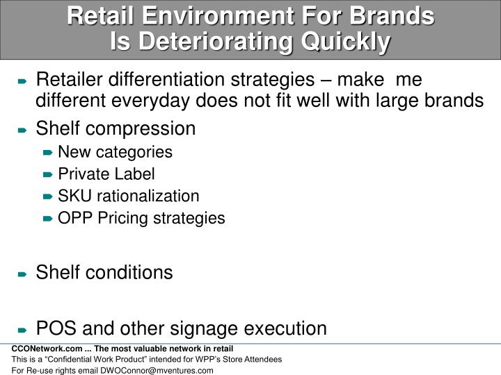 Retail Environment For Brands