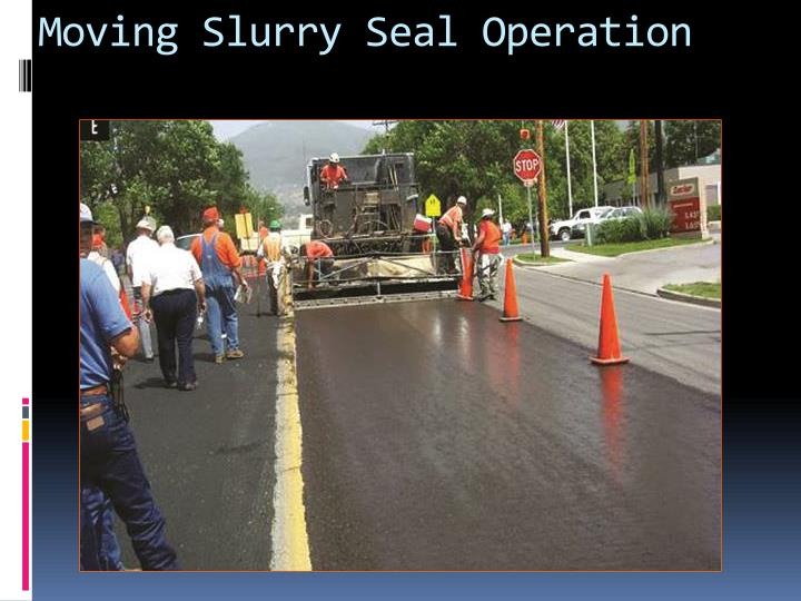 Moving Slurry Seal Operation