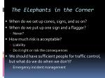 the elephants in the corner
