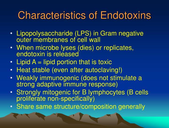 Characteristics of Endotoxins
