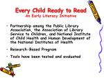 every child ready to read an early literacy initiative