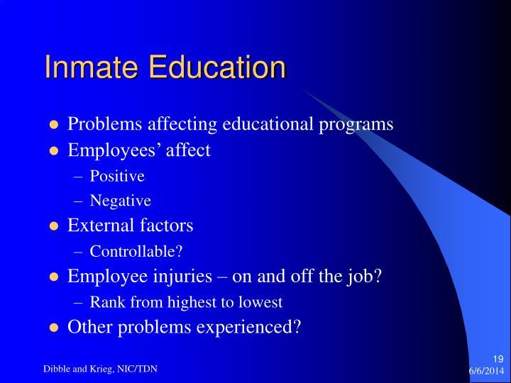 Inmate Education