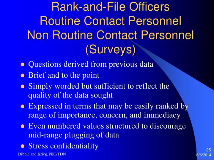 Rank-and-File Officers