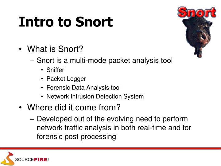 Intro to Snort