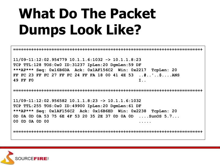 What Do The Packet Dumps Look Like?