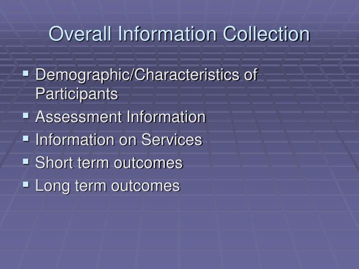 Overall Information Collection