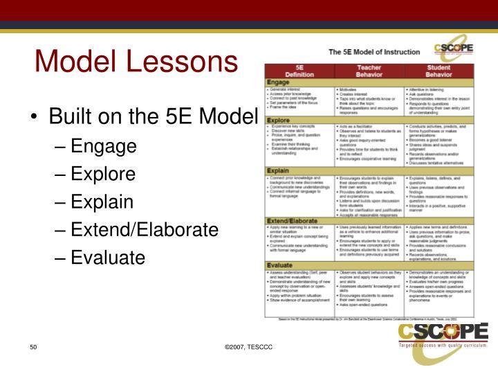 Model Lessons