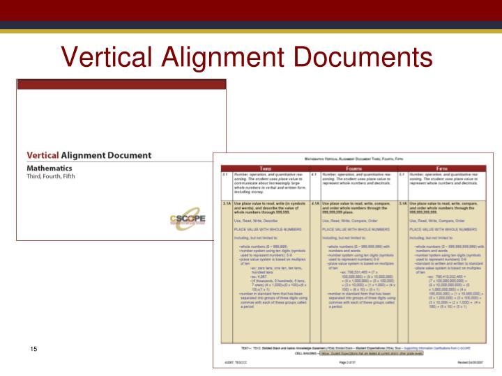Vertical Alignment Documents