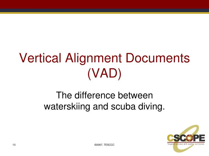 Vertical Alignment Documents (VAD)