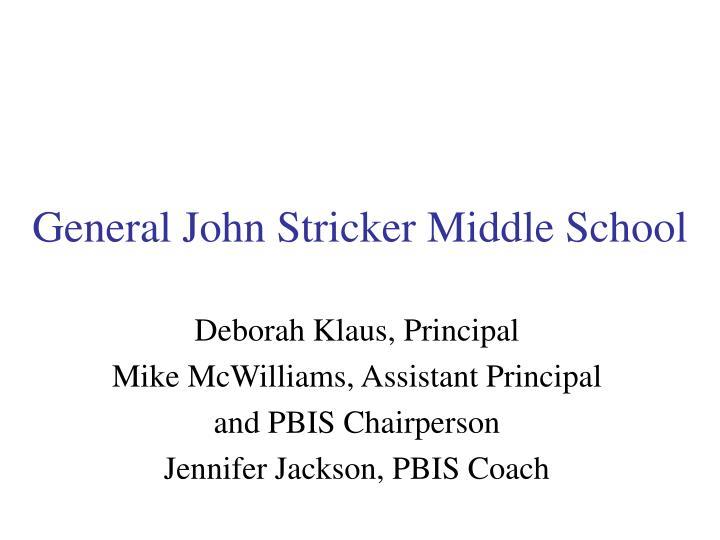 General John Stricker Middle School