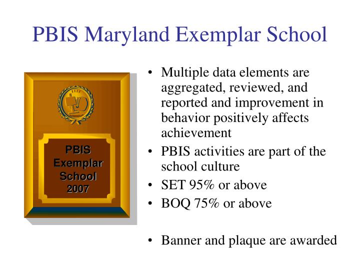 Multiple data elements are aggregated, reviewed, and reported and improvement in behavior positively affects achievement