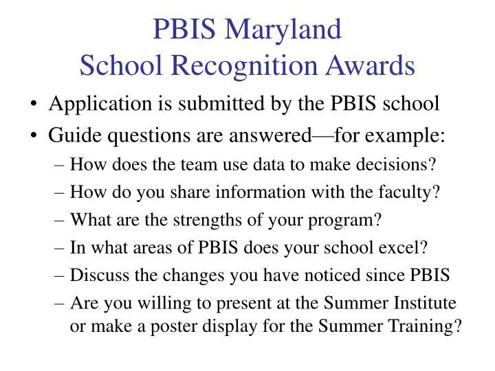 PBIS Maryland