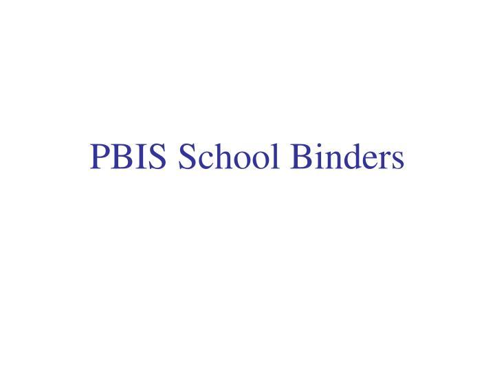 PBIS School Binders