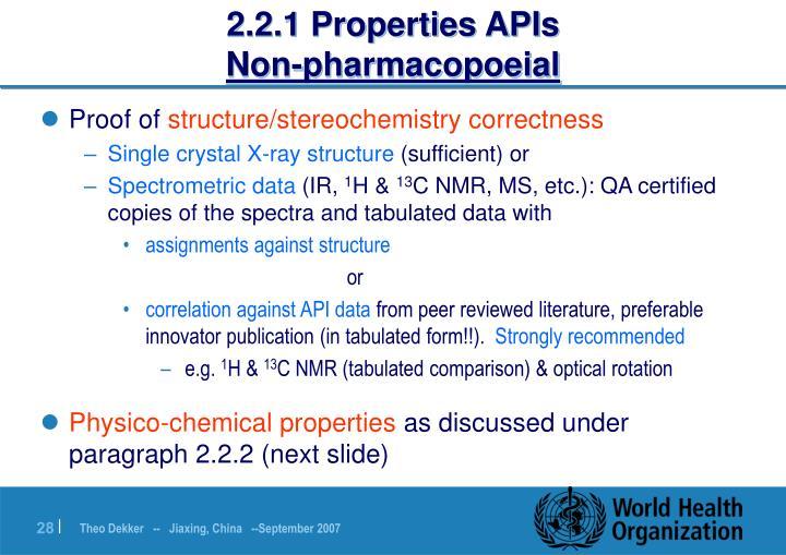 2.2.1 Properties APIs