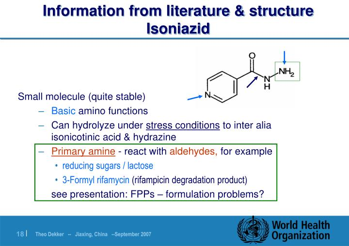 Information from literature & structure
