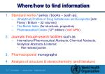 where how to find information