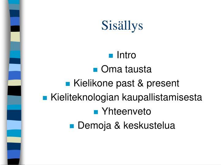 Sisällys