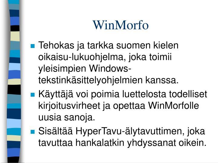 WinMorfo