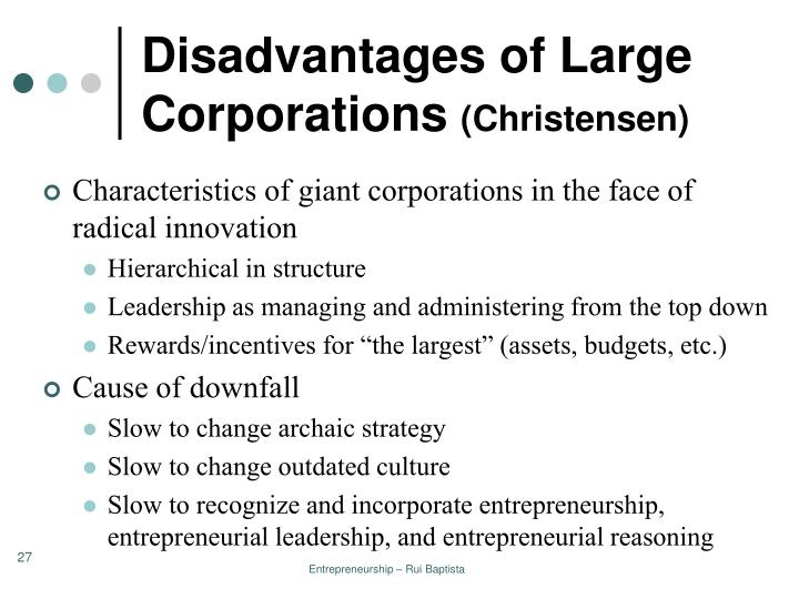 Disadvantages of Large Corporations