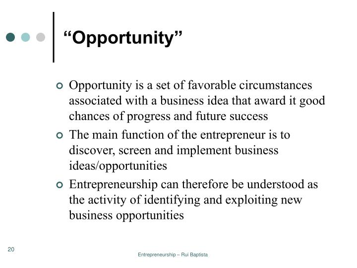 """Opportunity"""