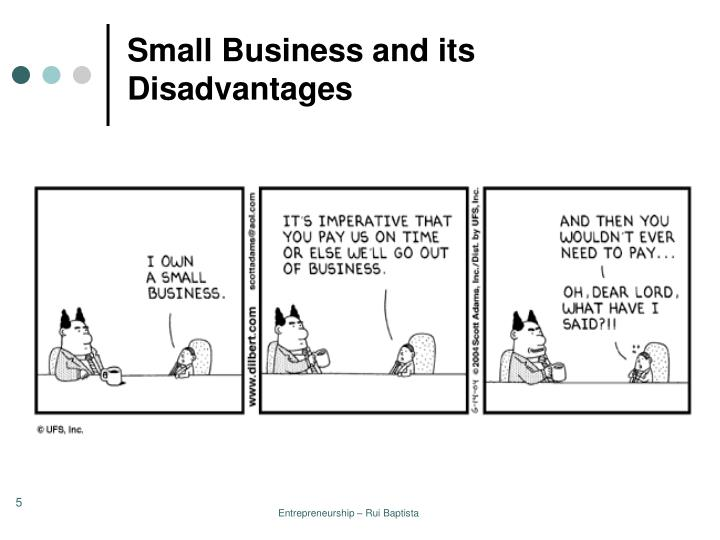 Small Business and its Disadvantages