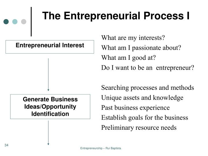 The Entrepreneurial Process I